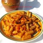 piatto tipico romano i rigatoni co' la pajata