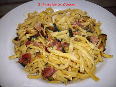 Fettuccine Speck e Zucchine