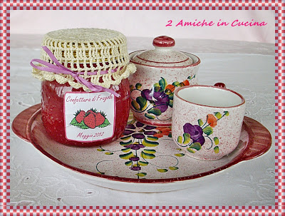 """candela """"confettura di fragole"""" idea regalo per la festa della mamma"""