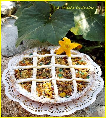 Crostata ai fiori di zucca