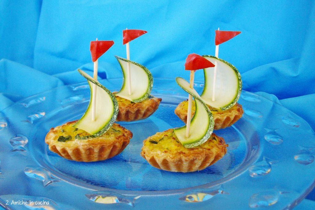 Barchette di merluzzo e zucchine
