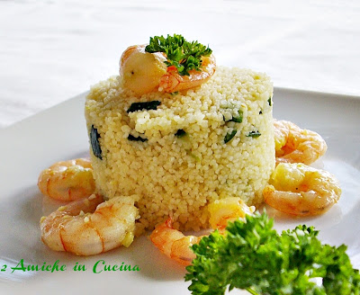 Couscous Zucchine e Gamberetti  e Evento BergHOFF a Melezzole