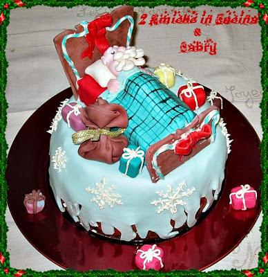 Panettone con Babbo Natale Addormentato e Buon Natale a Tutti