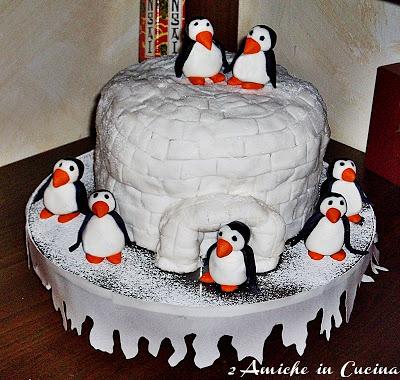 Panettone Igloo e Pinguini e Felice Anno Nuovo