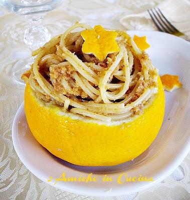 Spaghetti all'Arancia e Acciughe