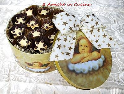 Stelline con gocce di cioccolato e Nutella
