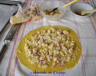 farcitura strudel salato con mele e speck