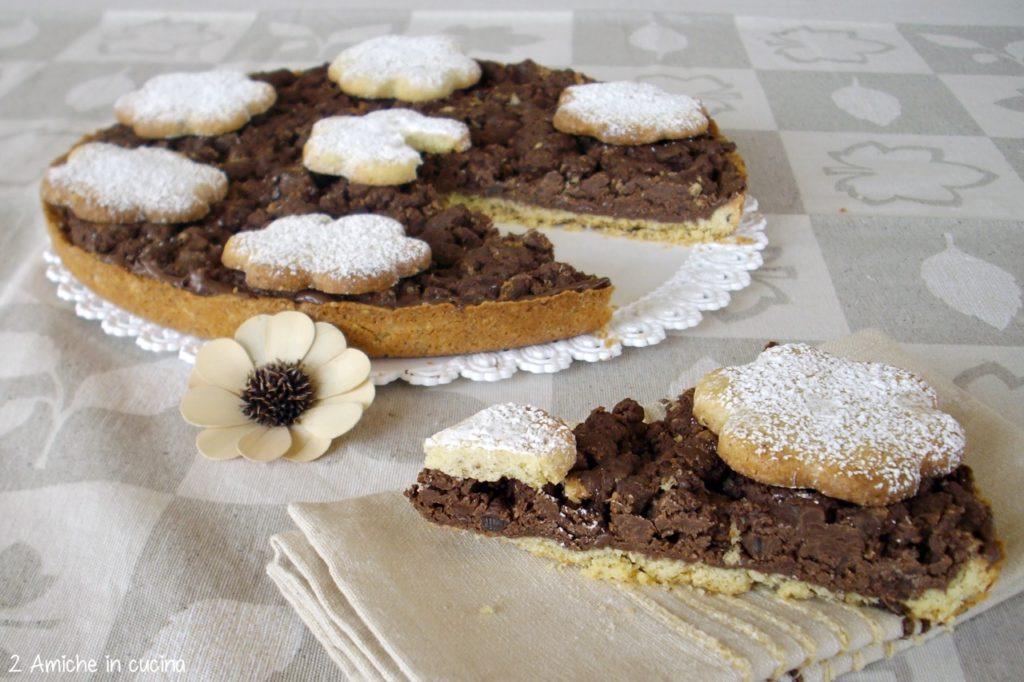 Crostata al pandoro e cioccolato