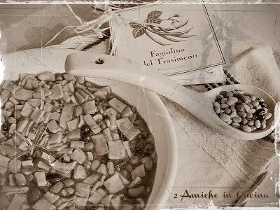 Minestra con il battuto e fagiolina del lago Trasimeno cucina umbra