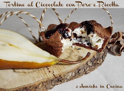 Tortine al cioccolato con pere e ricotta
