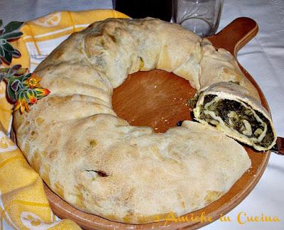 Biscio, rotolo di pasta e verdure, ricetta umbra