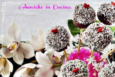 Cake pops cocco e cioccolato