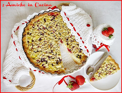 Crostata alle Fragole con Crema e Pistacchi