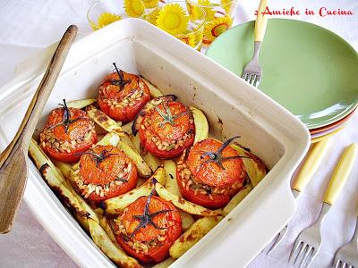 Pomodori Ripieni di Farro e Asparagi di Bosco