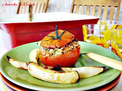 pomodori con il farro e asparagi