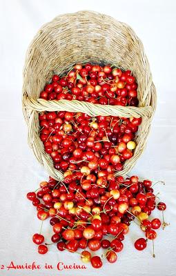 cestino di ciliegie per dolci e confetture