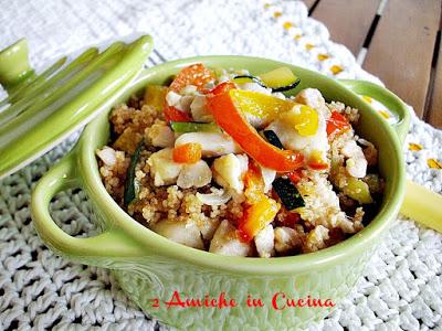 Cous Cous con Pollo, Peperoni e Zucchine