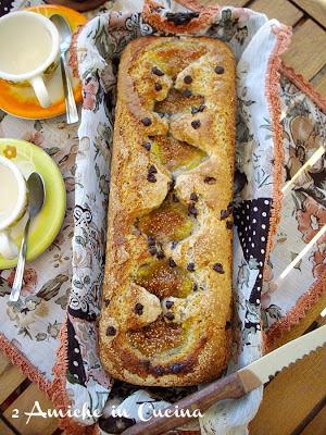 Plum cake Integrale alla Ricotta con Fichi e Cioccolato
