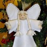Angioletto in panno idea fai da te per Natale