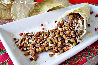 Cornucopia di Parmigiano Reggiano e lenticchie di Colfiorito