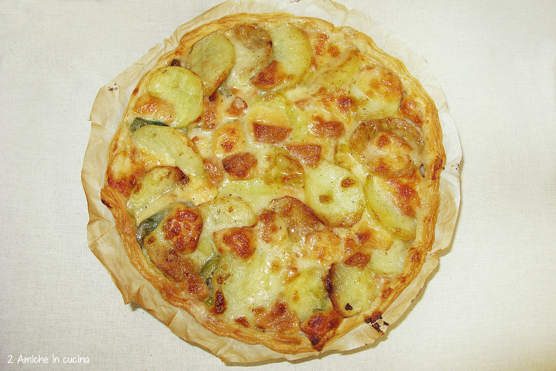 Crostata di carciofi, patate e scamorza