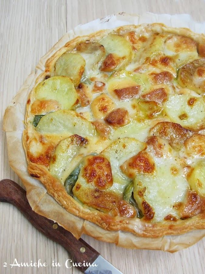 crostata di carciofi con patate e scamorza, ricetta Sale&Pepe