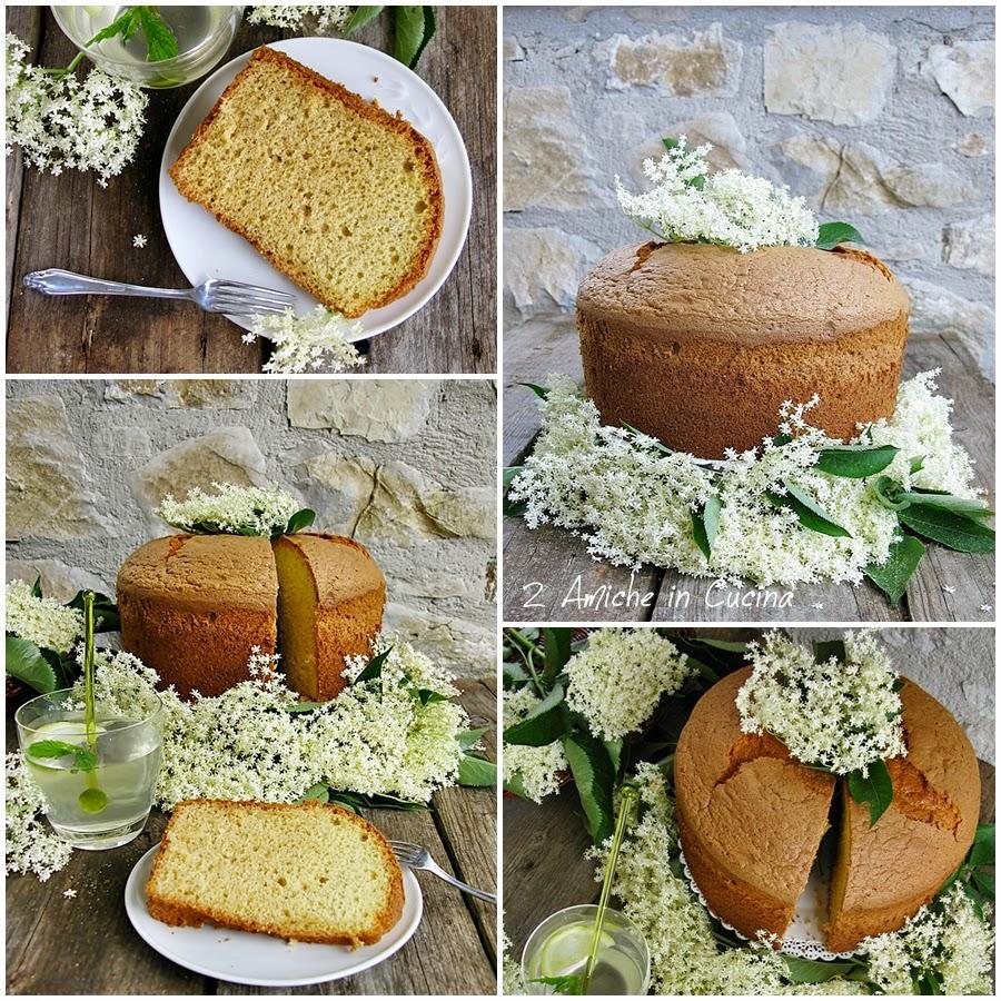 Chiffon cake profumata ai fiori di sambuco