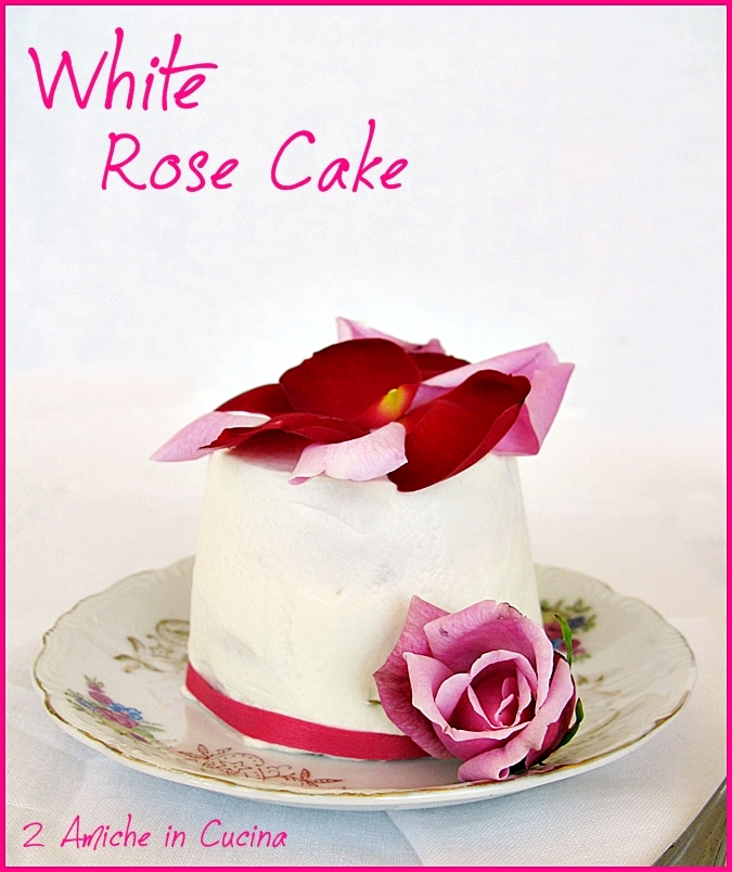 White Rose Cake per Re-cake