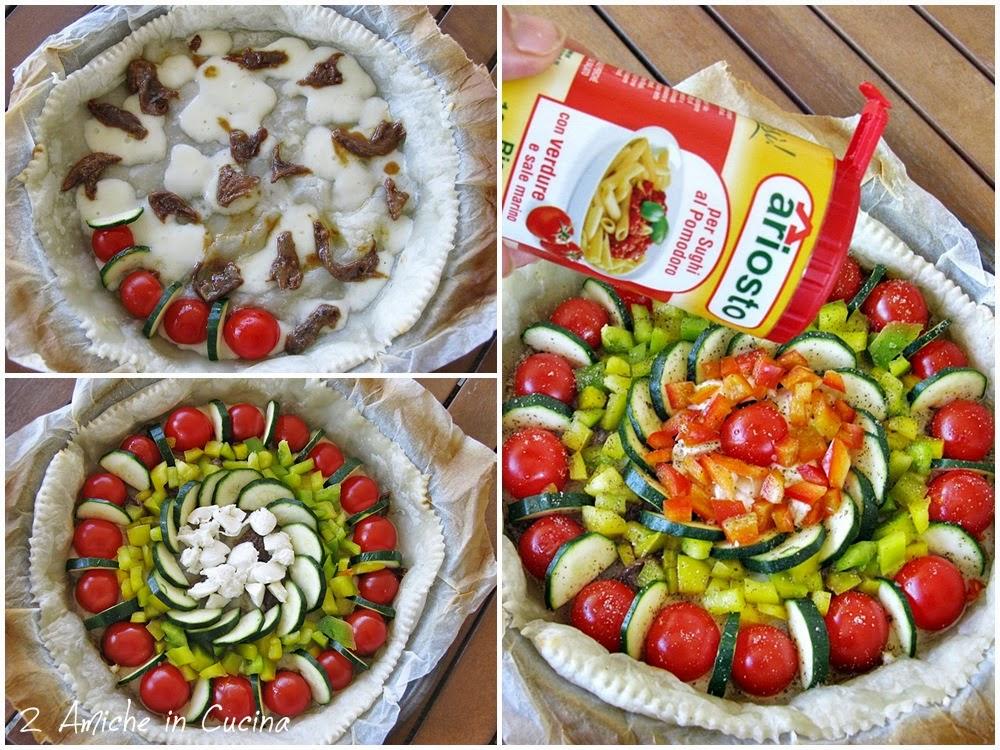 Torta salata con verdure e asiago 2 amiche in cucina - Torte salate decorate ...