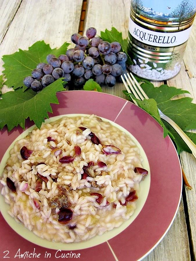 Risotto all'uva con salsiccia umbra e pecorino di Norcia