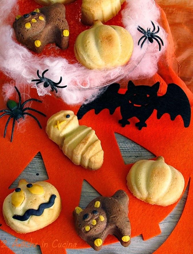 Dolcetti di frolla con zucca e mela per Halloween