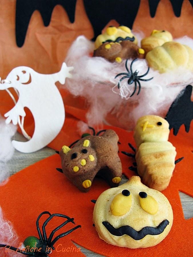 Dolci per Halloween di frolla con mele e zucca