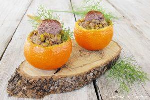 lenticchie e salsiccia nel mandarino al profumo di finocchietto