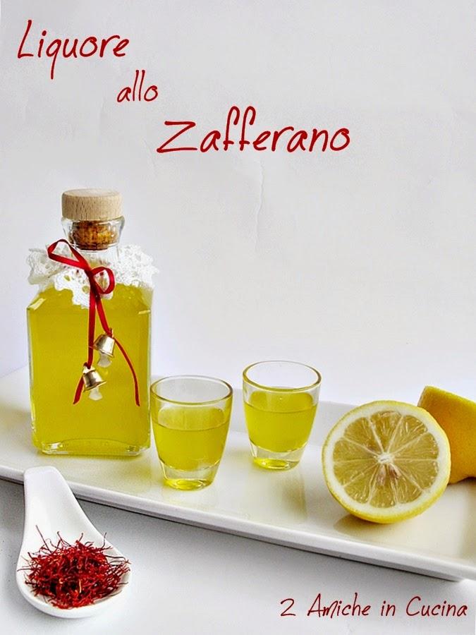 Liquore allo zafferano e limone fatto in casa