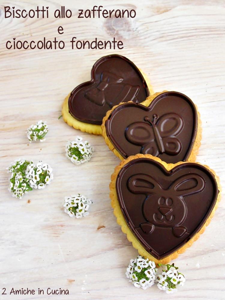 biscotti allo zafferano e cioccolato fondente, ricetta per Pasqua
