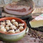gnocchi di pane con roveja, guanciale e pecorino