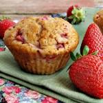 muffin vegan alle fragole e cardamomo