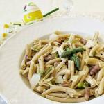 Strozzapreti al Sagrantino con ragù bianco di agnello e asparagi