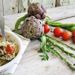 Crumble salato con verdure di primavera