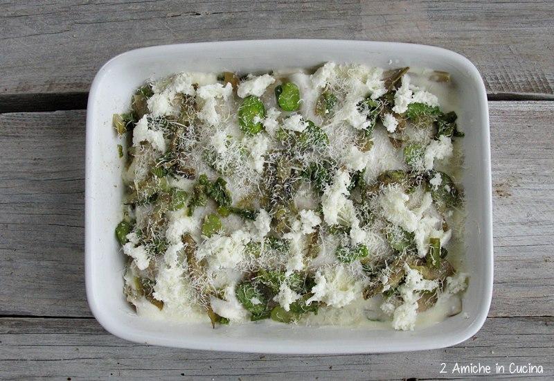 Lasagne fave, asparagi  preparazione