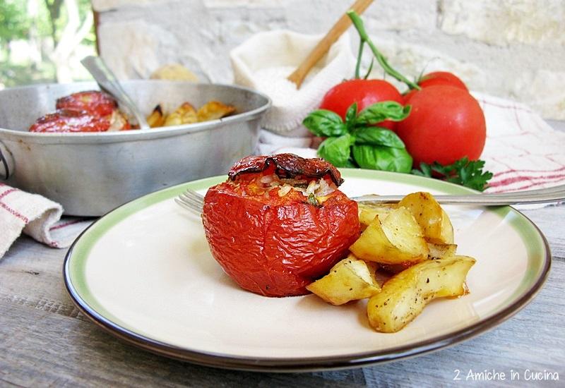 Pomodori ripieni e patate