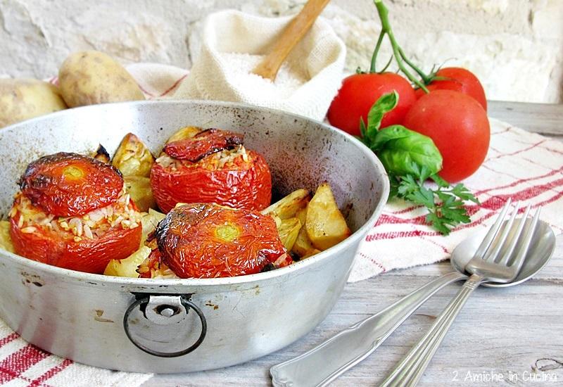 menù di Ferragosto Pomodori con il riso