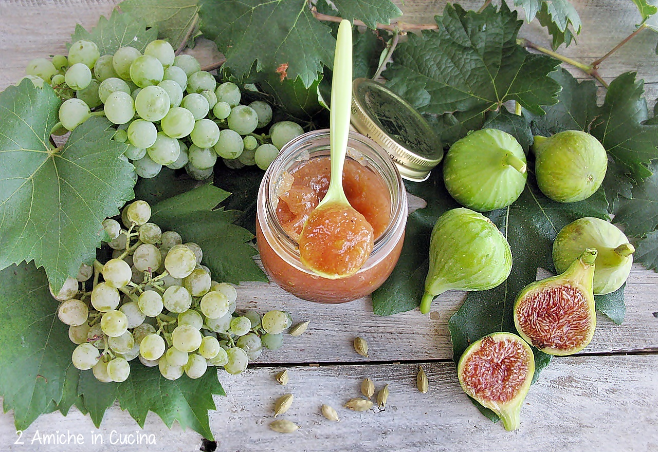 Confettura di fichi e uva al cardamomo