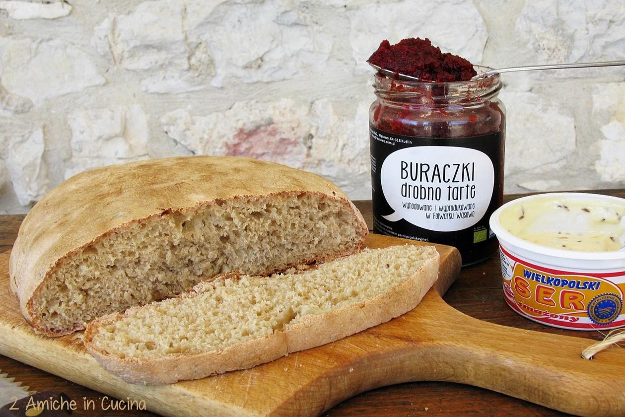 Pane alla barbabietola e formaggio fritto blog