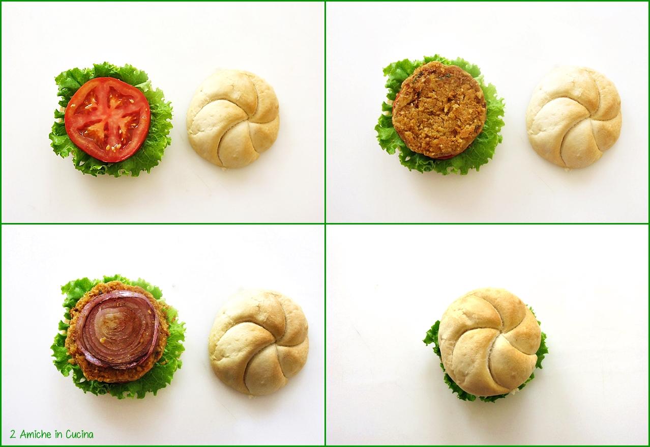 Hamburger di ceci preparazione
