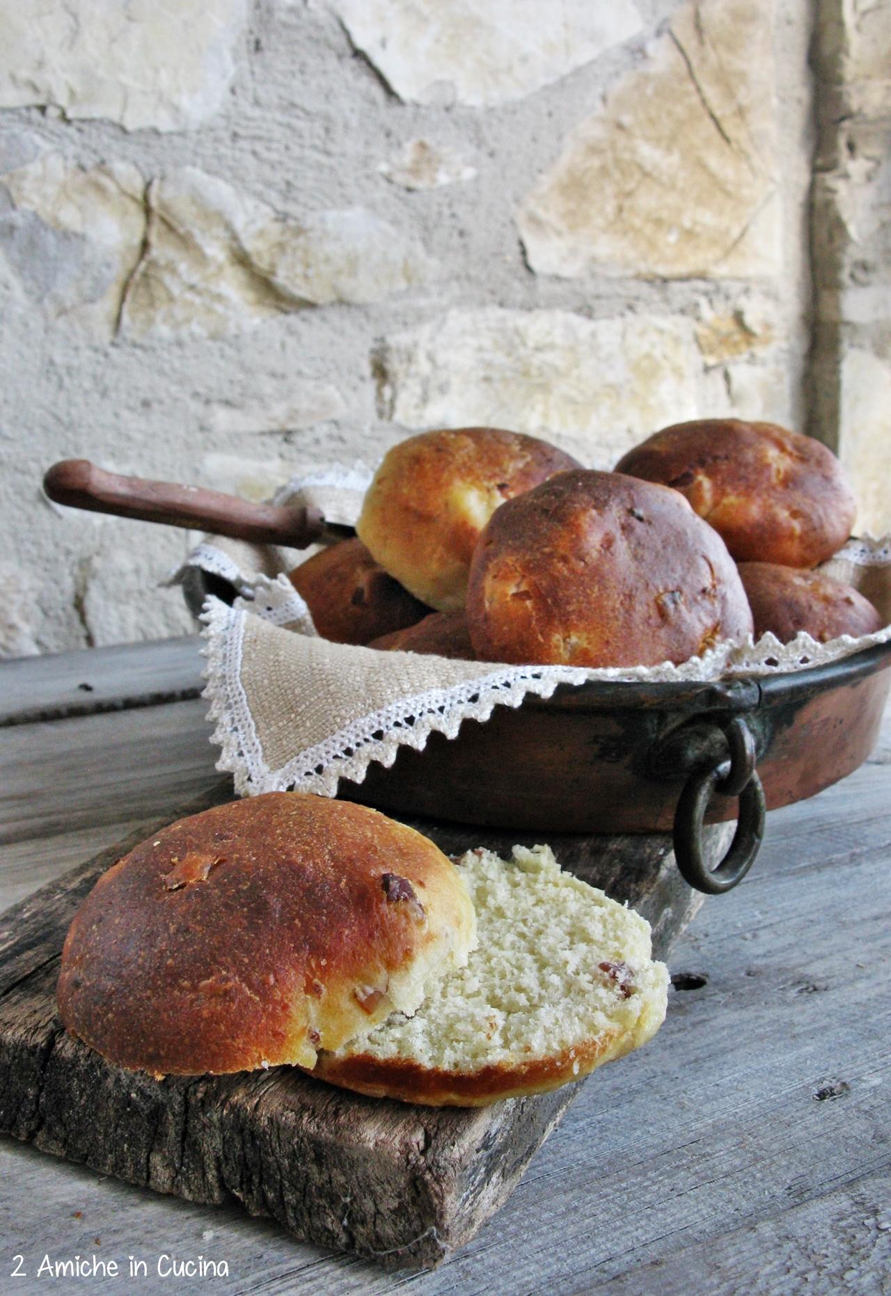 Panini al formaggio e prosciutto con pasta madre