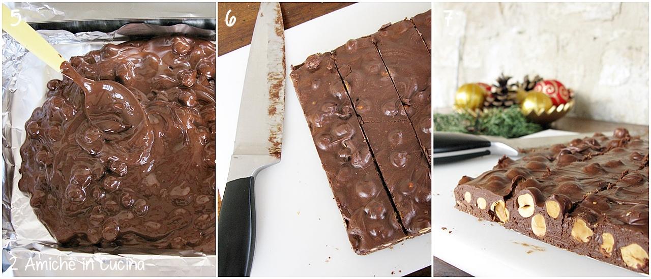 Torrone al cioccolato passo passo