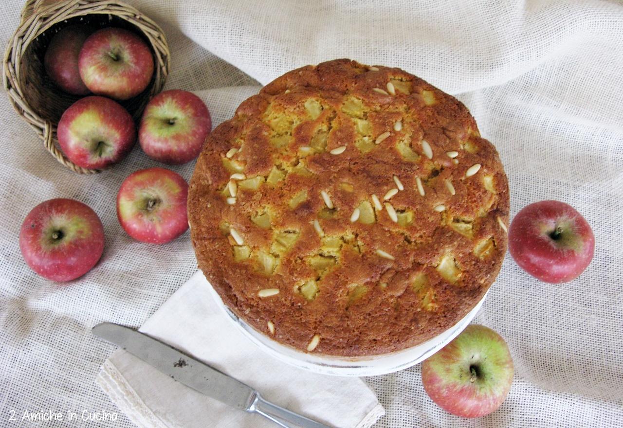 Torta di mele semi integrale con pinoli 2