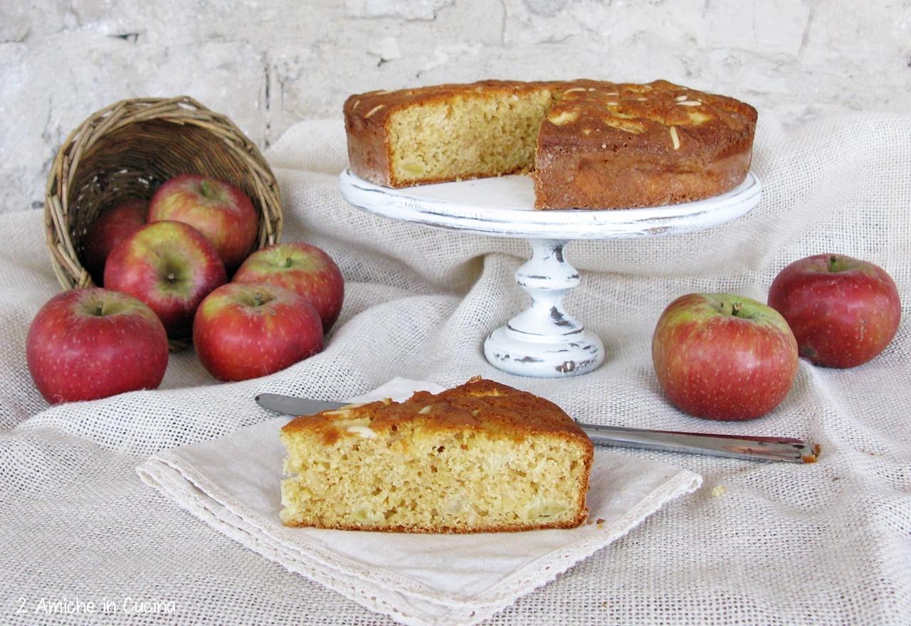Torta di mele semi integrale con pinoli 3