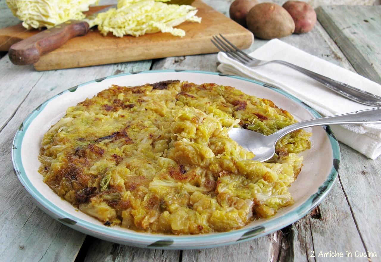 brustengo di patate e cavolo verza